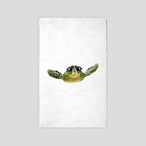 Cute sea turtle Area Rug