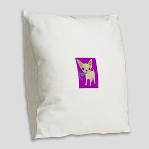 celebrate purple Burlap Throw Pillow