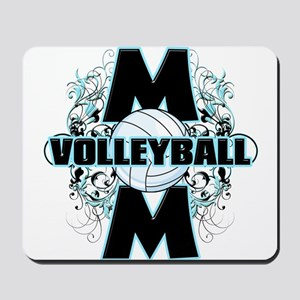 Volleyball Mom (cross) Mousepad