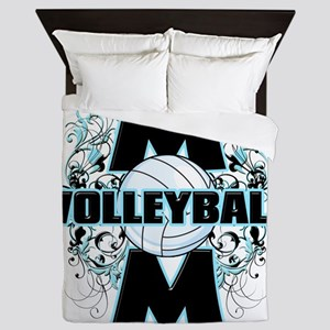 Volleyball Mom (cross) Queen Duvet