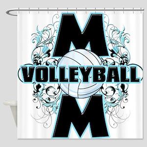 Volleyball Mom (cross) Shower Curtain
