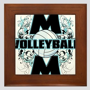 Volleyball Mom (cross) Framed Tile