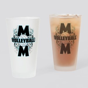Volleyball Mom (cross) Drinking Glass