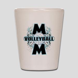 Volleyball Mom (cross) Shot Glass