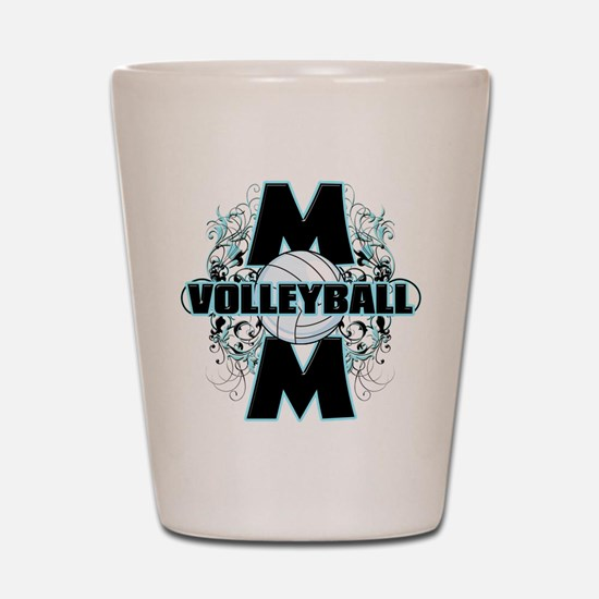 Volleyball Mom (cross).png Shot Glass