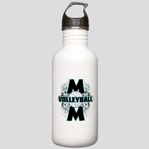 Volleyball Mom (cross) Stainless Water Bottle