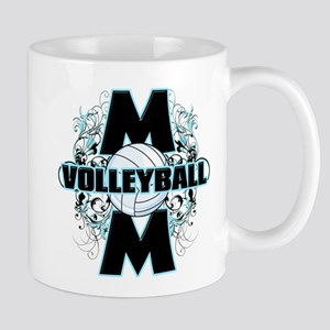 Volleyball Mom (cross) Mug