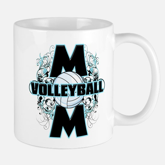 Volleyball Mom (cross).png Mug