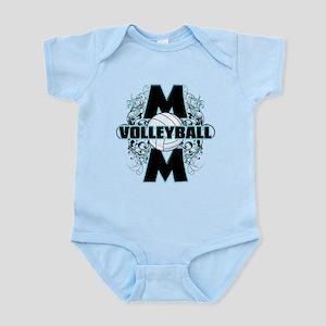 Volleyball Mom (cross) Infant Bodysuit