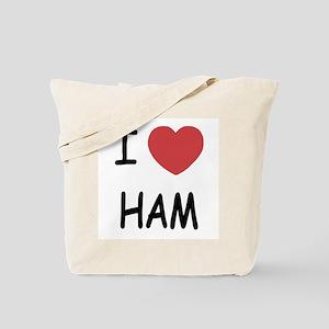 I heart ham Tote Bag