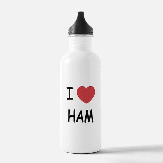 I heart ham Water Bottle