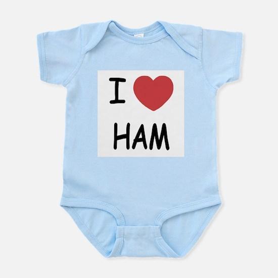 I heart ham Infant Bodysuit