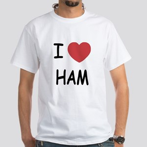 I heart ham White T-Shirt