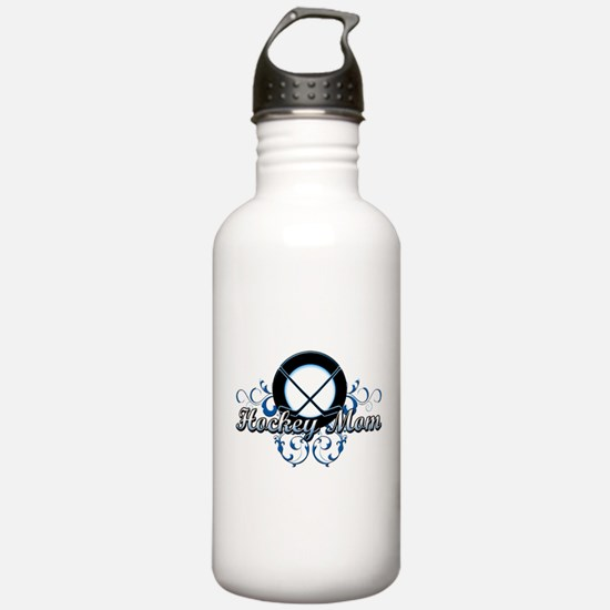 Hockey Mom (puck).png Water Bottle