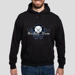 Hockey Mom (puck) Hoodie (dark)