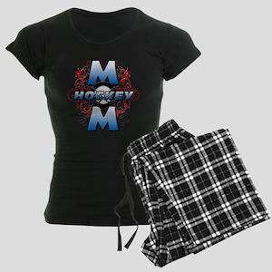 Hockey Mom (cross) Women's Dark Pajamas