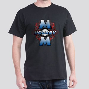 Hockey Mom (cross) Dark T-Shirt