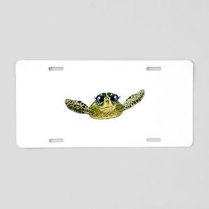 Cute sea turtle Aluminum License Plate