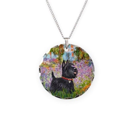 Garden (Monet) - Scotty Necklace Circle Charm