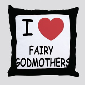 I heart fairy godmothers Throw Pillow