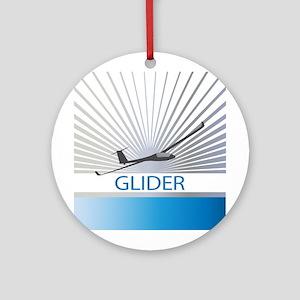 Aircraft Glider Ornament (Round)