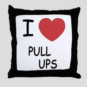 I heart pull ups Throw Pillow