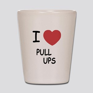I heart pull ups Shot Glass