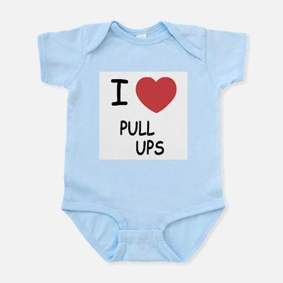 I heart pull ups Infant Bodysuit