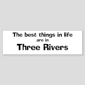 Three Rivers: Best Things Bumper Sticker