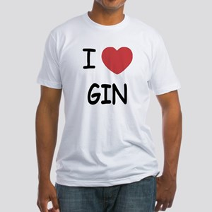 I heart gin Fitted T-Shirt