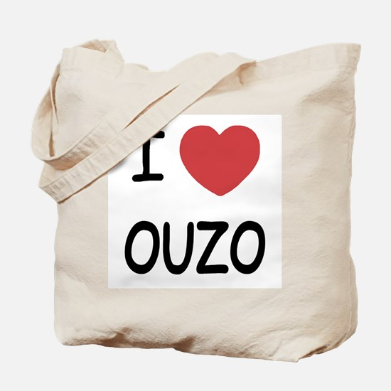 I heart ouzo Tote Bag