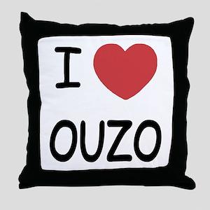 I heart ouzo Throw Pillow