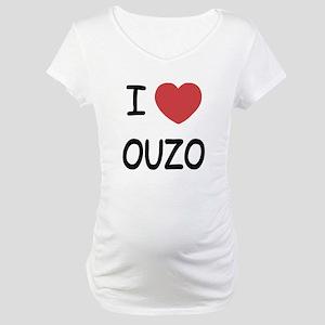 I heart ouzo Maternity T-Shirt