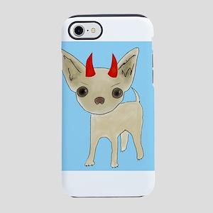 Devil horns with light blue iPhone 7 Tough Case