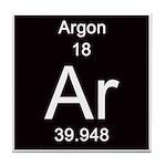 Periodic Table Argon Tile Coaster