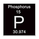 Periodic Table Phosphorus Tile Coaster