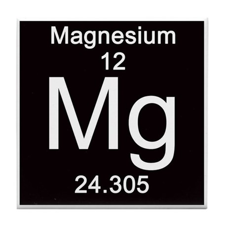 Periodic table magnesium tile coaster by sciencelady urtaz