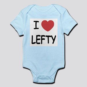 I heart lefty Infant Bodysuit