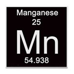 Periodic Table Manganese Tile Coaster