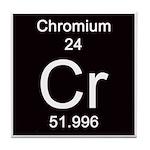 Periodic Table Chromium Tile Coaster