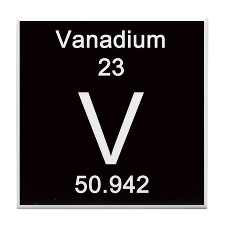 Wedding Anniversary Gift For Parents >> Periodic Table Vanadium Tile Coaster by Science_Lady
