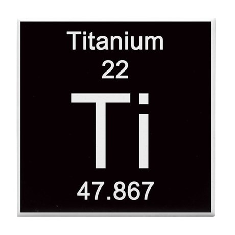 Periodic Table Titanium Tile Coaster by Science_Lady