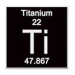 Periodic Table Titanium Tile Coaster