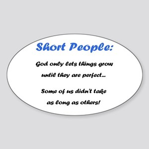 Short People Sticker (Oval)