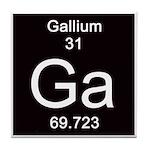 Periodic Table Gallium Tile Coaster