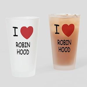 I heart robin hood Drinking Glass