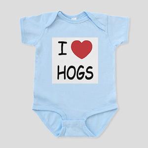 I heart hogs Infant Bodysuit
