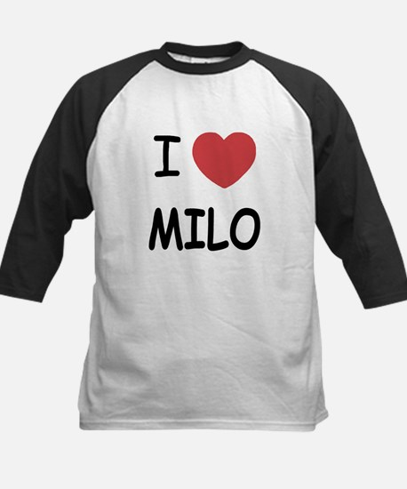 I heart Milo Kids Baseball Jersey