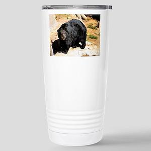American Black Bear 3 Stainless Steel Travel Mug