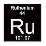 Periodic Table Ruthenium Tile Coaster